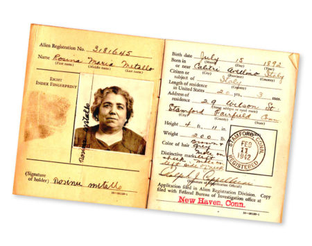 image of an old passport