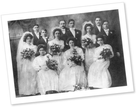 Family photos are part of genealogical research